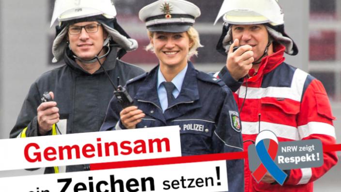 ANERKENNUNG UND RESPEKT FÜR POLIZEI UND EINSATZKRÄFTE